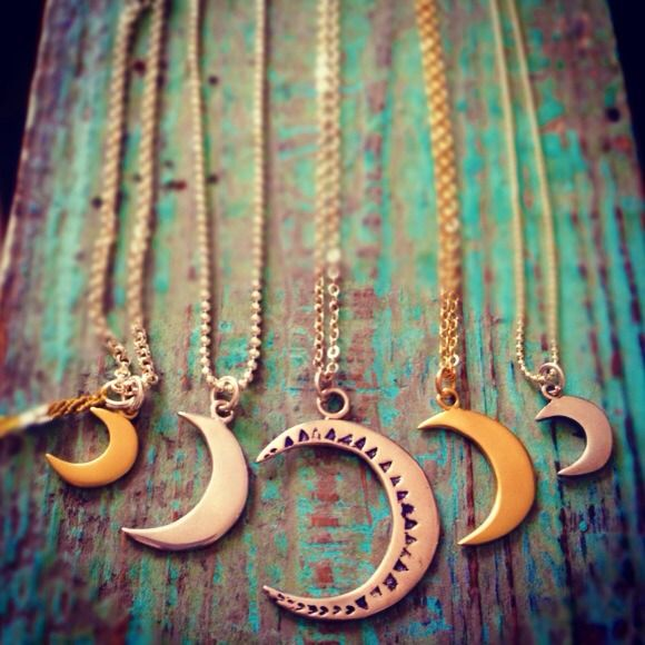 Skar Moon Pendants.