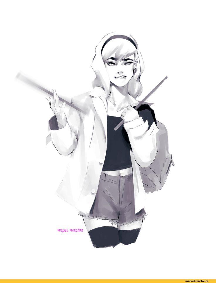Gwen Stacy,Женщина-Паук, Гвен-Паук, Гвен Стейси ,Marvel,Вселенная Марвел,фэндомы,merkymerx