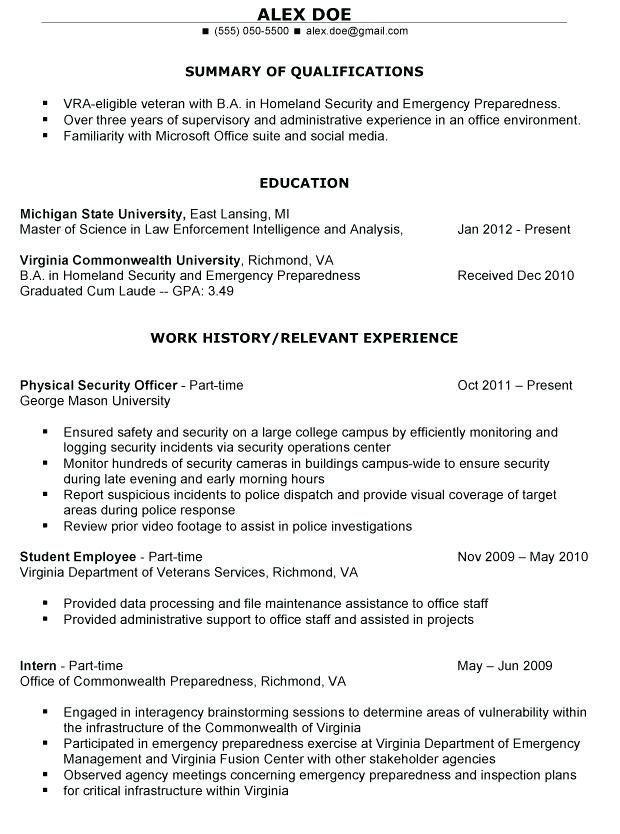 Resume Examples Veterans 1-Resume Examples Sample resume format