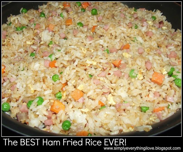 The BEST HAM FRIED RICE EVER!! SUPER EASY TO MAKE
