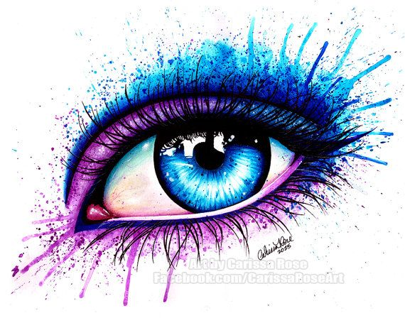Signed Art Print Colorful Eye Painting Pop Art by NeverDieArt