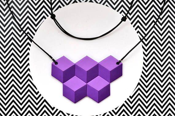Guarda questo articolo nel mio negozio Etsy https://www.etsy.com/it/listing/511217374/collana-geometrica-in-pasta-polimerica