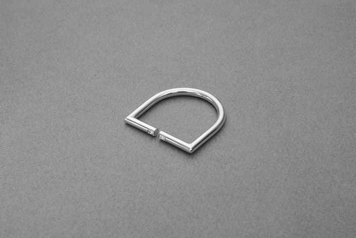 PIROSKANNA's Uriana Ring handmade of 925 sterling silver and diamond. #piroskanna