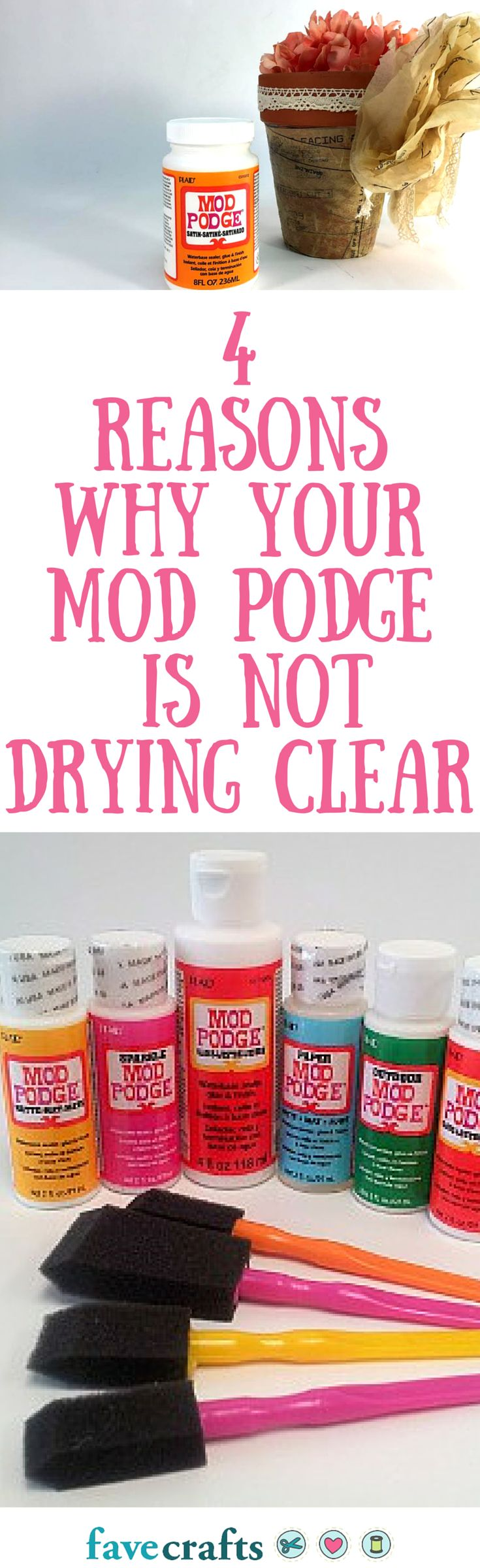 What to do if your mod podge doesn't clear!