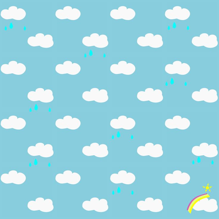 FREE printable rainy clouds and rainbow pattern paper