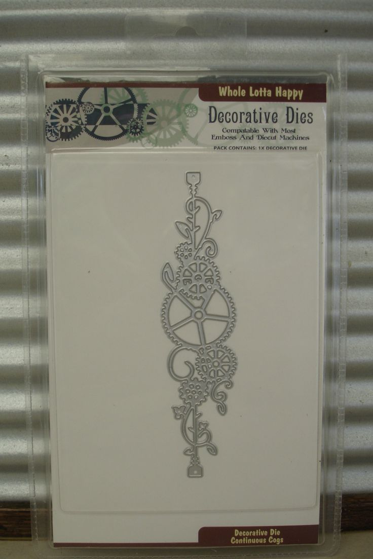 "Our very own die :) ""Continuous Cogs"" find them at wholelottahappy.com.au"