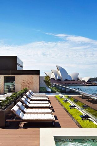 The rooftop pool sits beneath the Sydney Harbour Bridge and has sweeping views of the water. Park Hyatt Sydney (Sydney, Australia) - Jetsetter