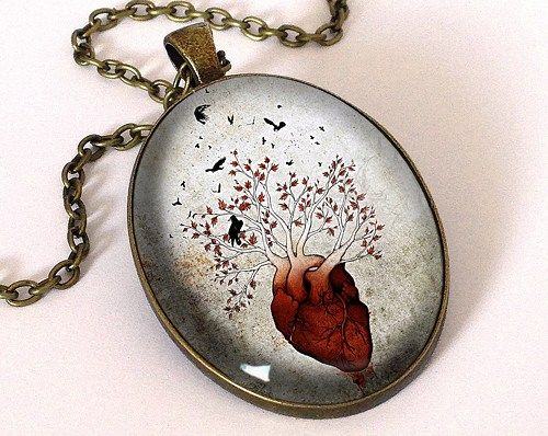 Weirwood Tree Pendant With Chain,Westeros Tree Necklace Game of Throne
