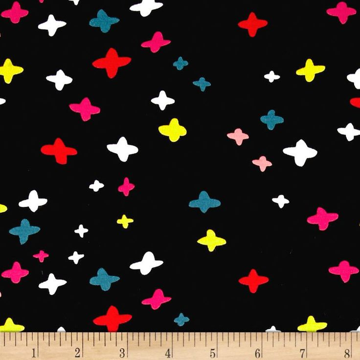 Cotton   Steel Jersey Knit Dress Shop It's A Plus Black from @fabricdotcom  Designed by Rashida Coleman-Hale for Cotton   Steel, this lovely medium weight cotton jersey knit fabric is super versatile. With 40% four-way stretch, this printed cotton jersey is perfect for whimsical knit dresses and skirts that are gathered or lined, t-shirts, children's apparel, and pajamas. Colors include black, red, pink, white, green, yellow, and coral.