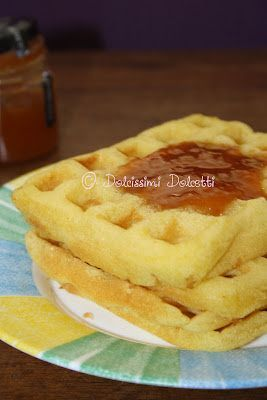 Dolcissimi Dolcetti: Waffles all'olio d'oliva