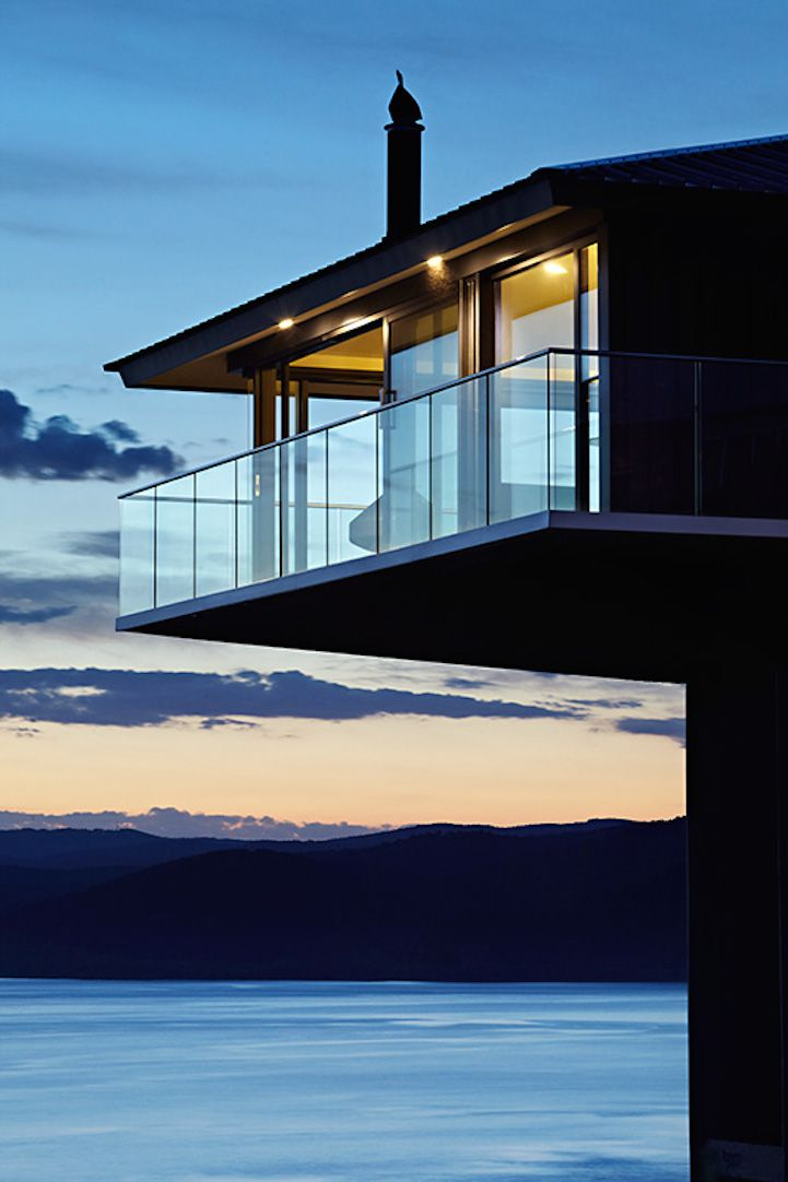 This elevated vacation home offers incredible views of the ocean