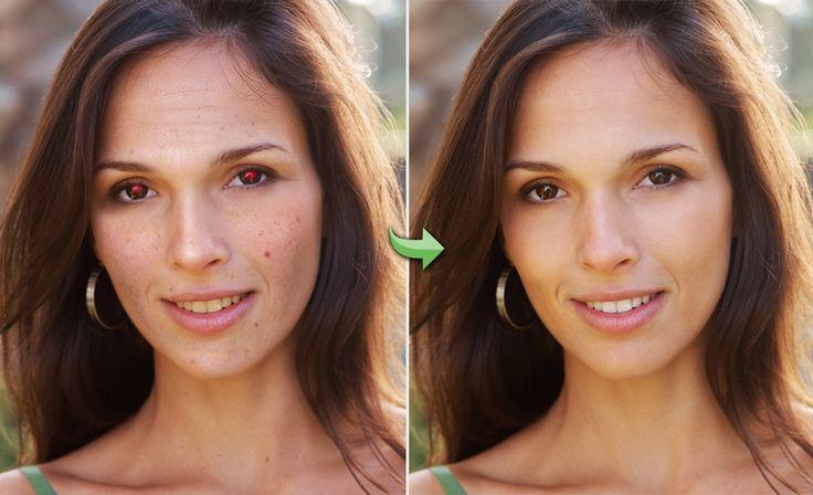 Portret retusz: usuwanie efektu czerwonych oczu, wygładzanie zmarszczek, wybielanie skóry i retusz