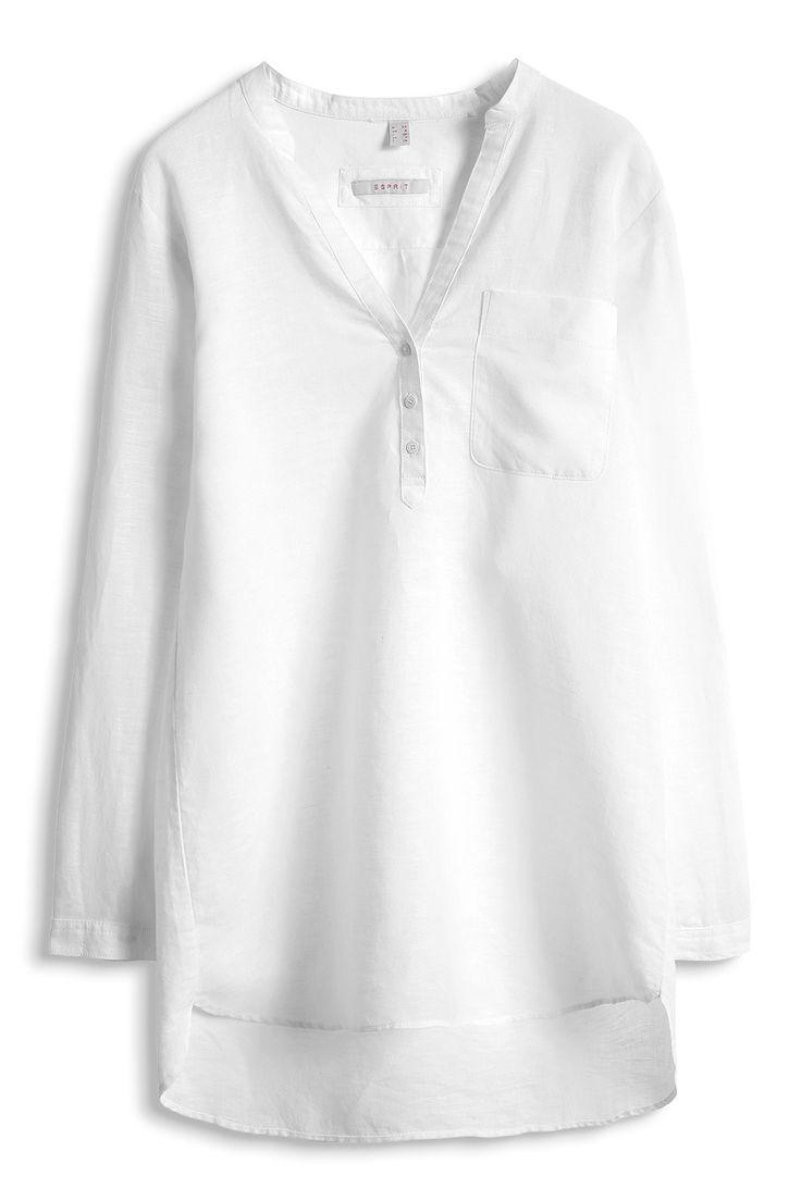 Esprit / Vzdušné košilová halenka ze směsi lnu
