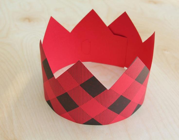 Lumberjack Plaid Party Crown