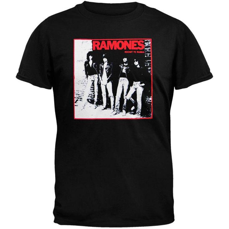 Ramones - Rocket To Russia Black T-Shirt