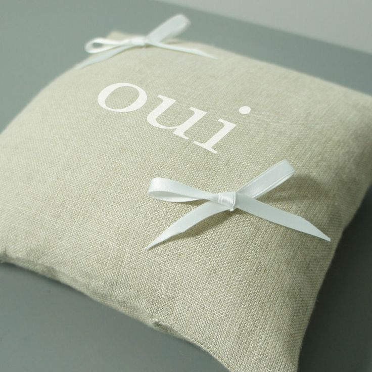 """Coussin d'alliances inscription """"oui"""""""