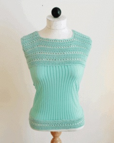 Add some urban flair to your wardrobe with this crochet sweater. PA845