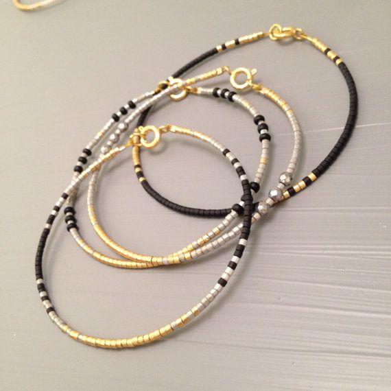 Pulsera simple minimalista Bracelt delica de perlas de joyería
