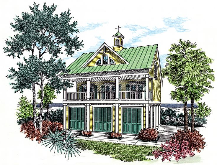 superior small coastal house plans #10: Plan 55126BR: Coastal House Plan With Observation Room