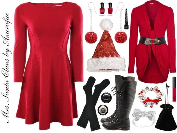 Mrs. Santa Claus inspired costume.