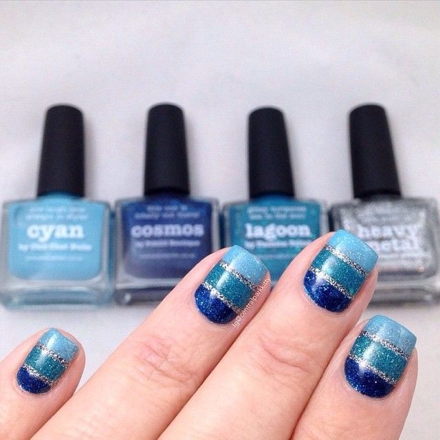 BLUE STRIPES features 'Cyan, Cosmos, Lagoon + Heavy Metal' nails by @centralparkkitty ❤️❤️️️️️️️️thanks Marla :) ⭐️That Remover + Those Wipes + MoYou London + Liquid Palisade + NailVinyls + Nail Butter + Creative Shop BIG Stamper all available via PP link in bio⭐️ #aussienails #picturepolish #polish #lovemanicure #nail #nails #nailpolish #polishaddict #vernis #lacquer #lovenails #enamel #npa #nailart #nailporn #nailswag #nailaddict #nailartwow #naildesign #nailenamel #manicure #nailfashion…
