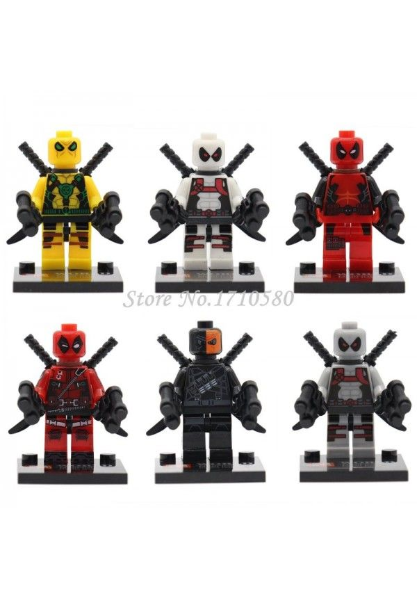 Ml148 Super Heroes Deadpool Minifiguras armado X-men 6 unids/lote Lego Compatible