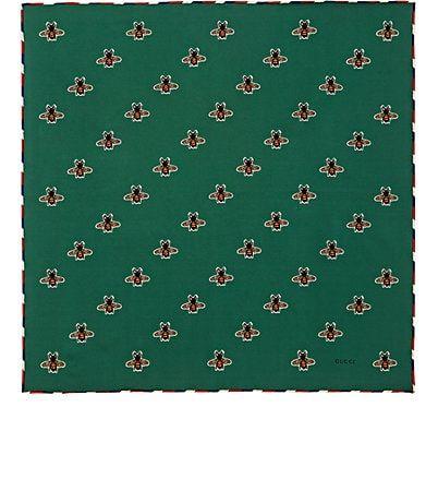 Gucci Bee-Print Silk Pocket Square - Pocket Squares - 505399695