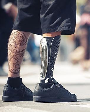 CREATIVE PROSTHETIC LEG COVERINGS