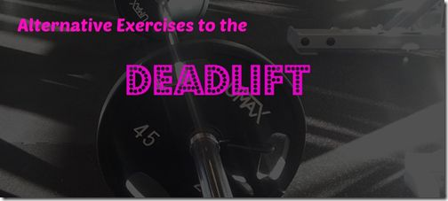 Alternative exercises to the deadlift