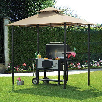 Garden Winds Bamboo Look BBQ Gazebo Replacement Canopy -- Click on the image for additional details.
