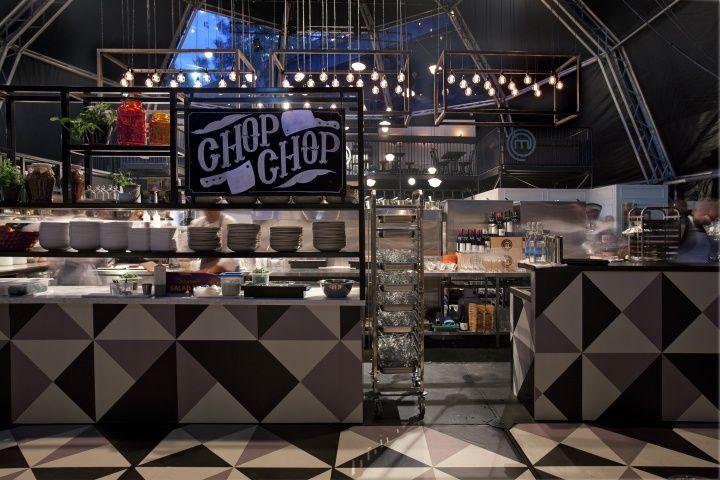MasterChef Dining and Bar pop up restaurant interior design by AZBcreative