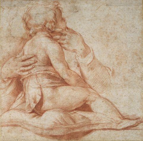 Andrea del Sarto (1486–1530), Study of a Child, Red chalk on off-white paper | The Ashmolean Museum, Oxford