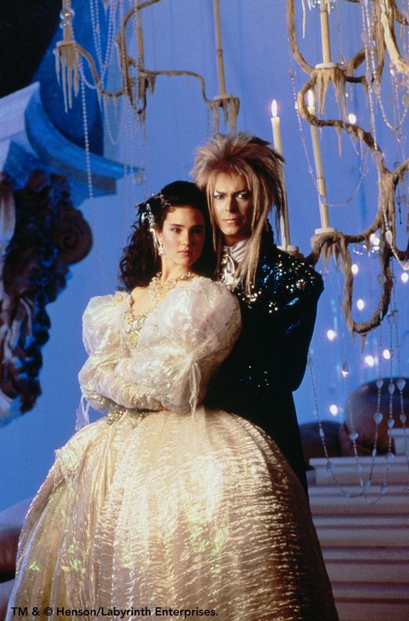 Labyrinth..Am I the only one concerned with how tight his pants were? And the fact that a grown man stole a baby to keep a young girl hostage? His pants give me nightmares, nothing left to the imagination. My parents get a FAIL for making me love this movie! LOL
