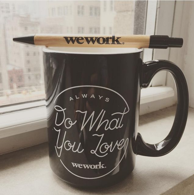 Wework Swag In A Pen And A Coffee Cup Photo Carlangas84