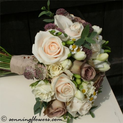 Vintage Roses and Freesia Handtied