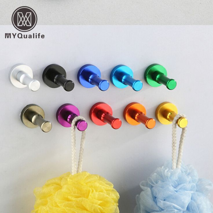 Decorative Aluminum Candy Color Wall Hooks Towel Hanger 9 colors Clothes hanger & Metal & Towel & coat&Robe Hooks 1pc-in Robe Hooks from Home Improvement on Aliexpress.com | Alibaba Group