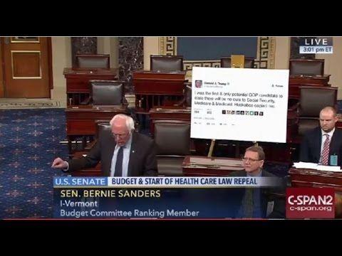 Bernie Sanders Brings Giant Trump Tweet To Senate Floor – Calls Out The Entire Republican Party