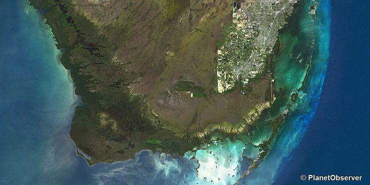 Miami, Floride, USA – PlanetSAT 15 satellite image (Resolution: 150m)