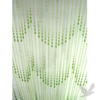 Wonderful Raindrop Beaded Curtain Panels   Lime Green