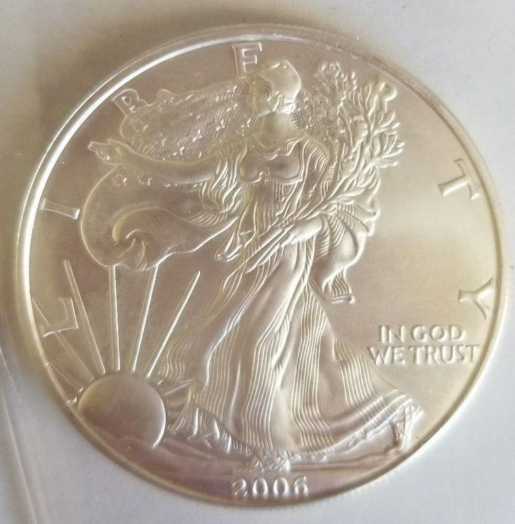 2006 1 oz AMERICAN SILVER EAGLE BRILLIANT UNCIRCULATED  #InternationalCurrencyLLC