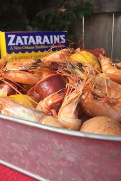 Looking for a new seafood boil recipe? Use Zatarain's Complete Crawfish, Shrimp & Crab Boil to create the unmistakable flavor of a classic New Orleans shrimp boil right on your stove top. This easy party recipe is perfect for entertaining.