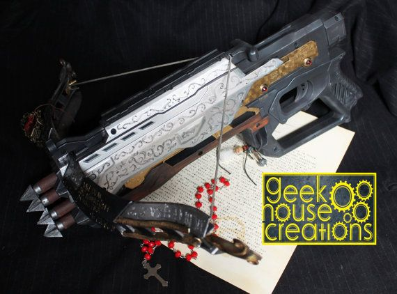 Painted Nerf Occult Crossbow. Prop for by GeekHouseCreations