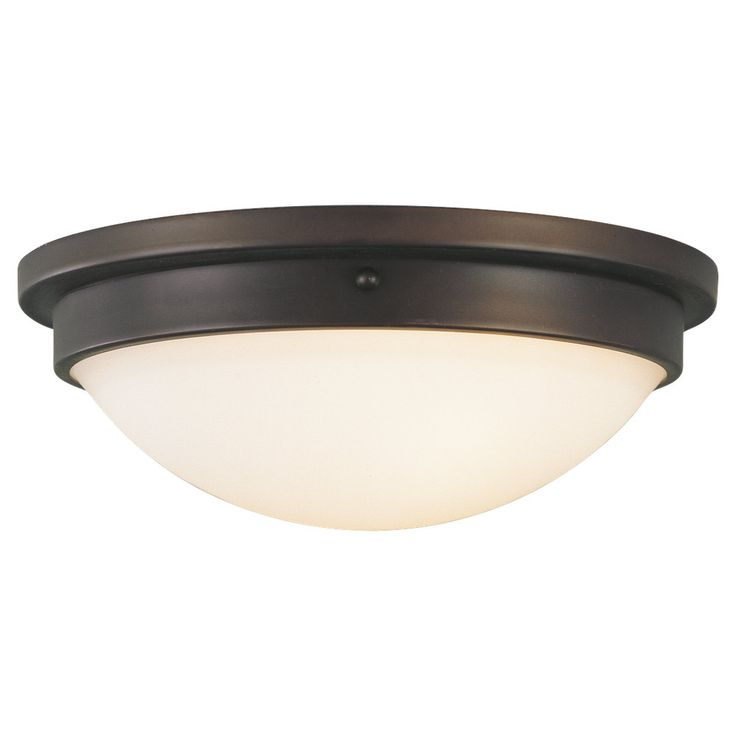 Selected Flushmount Lighting for Hallways: MF - FM228ORB,2 - Light Indoor Flush Mount,Oil Rubbed BronzeDimensions:D: 12 1/2'' H: 4 1/2'' Lamping: (2) Medium A19 60w Max. Bowl: Etched Glass in White Opal Etched finish