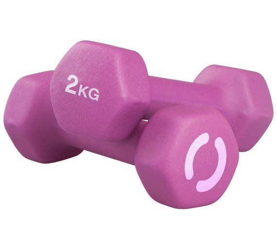 Buy Opti Neoprene Dumbbells - 2 x 2kg at Argos.co.uk, visit Argos.co.uk to shop online for Weights and dumbbells, Weights, multi-gyms and strength training, Fitness equipment, Sports and leisure