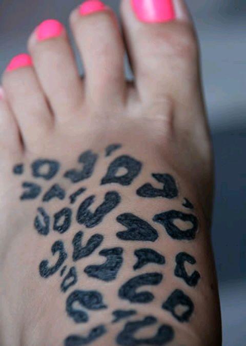 Leopard print, not mine but super cute