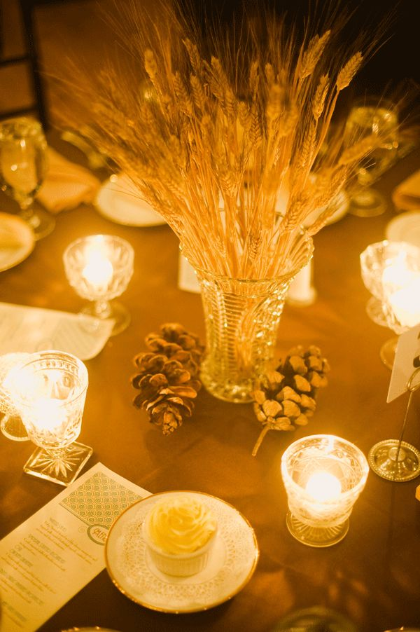 Blackbeard wheat and cut glass centerpieces get 99 cent for Wheat centerpieces