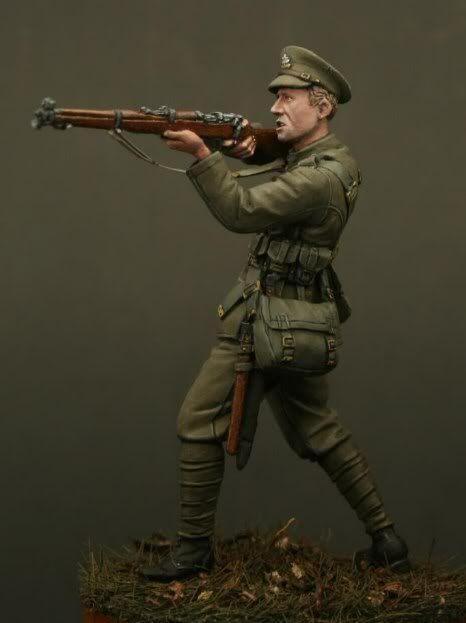 Private, 1st Bn Lincolnshire Regiment, Mons 1914. In stock! Click on the pic for more details on awesome resin figures!