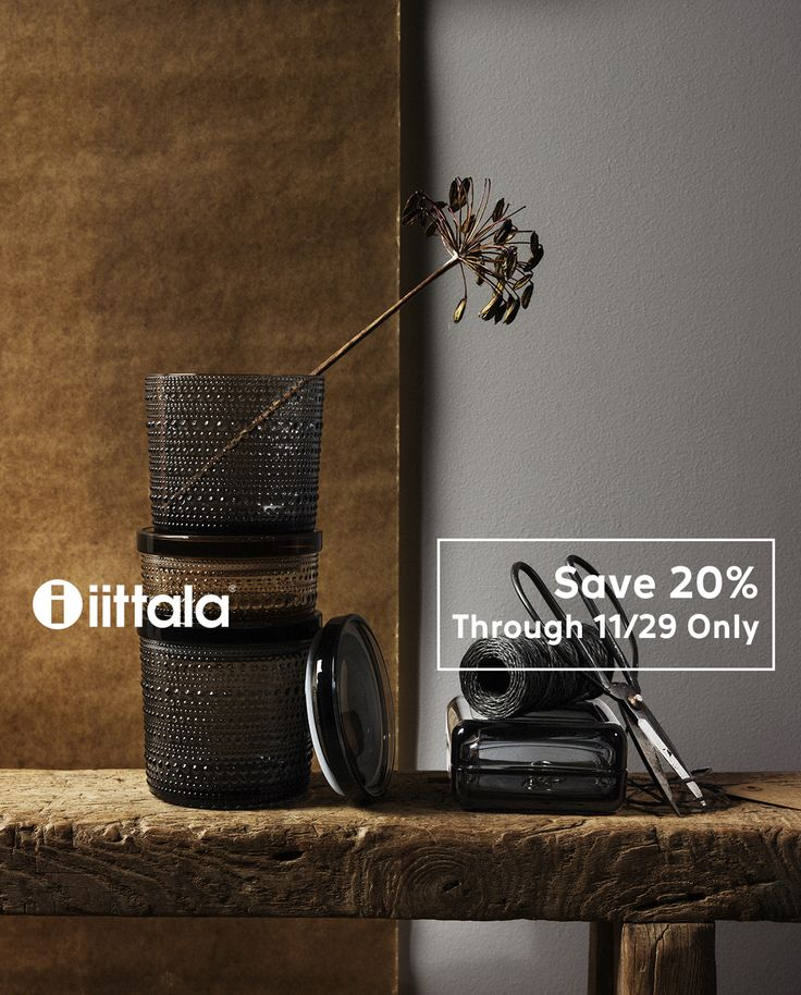 Shop the Iittala glassware, dinnerware & home accents sale! 20% off only through Nov 29. http://ss1.us/a/km866wlj #kiitoslife #kiitoslifenyc #iitala #iittalasale #home #homedecor #sale