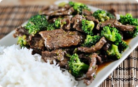Broccoli Beef: Food Recipes, Dinners Tonight, Beef Recipes, Broccolibeef, Bestest Broccoli, Mel Kitchens, Broccoli Beef, Flank Steaks, Kitchens Cafe