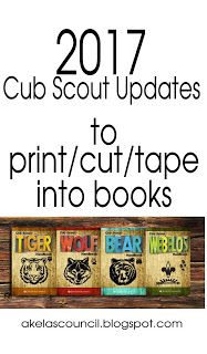 Akela's Council Cub Scout Leader Training: Mid-year Cub Scout program updates to print / cut / and tape into books